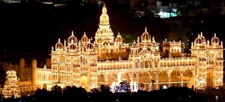 Mysore Palace in Dasara Festival