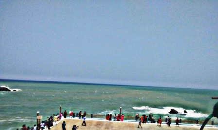 Confluence of Bay of Bengal,Indian Ocean,Arabian sea- in kanyakumari
