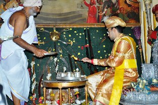 Worship of Royal Sword in Mysore Palace