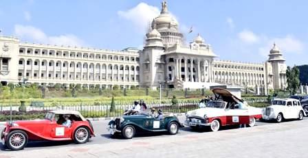 Vintage Car Rally at Mysore Palace