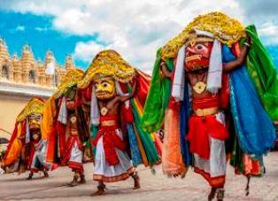 Colorful Tableaux in Mysore Dasara Festival