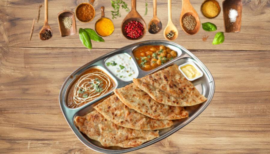 Different varieties of Parathas- Street Food in Nagpur.