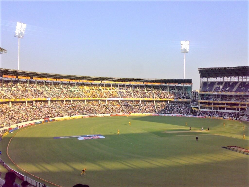 Nagpur Cricket Stadium, the largest cricket stadium in India in terms of field area.